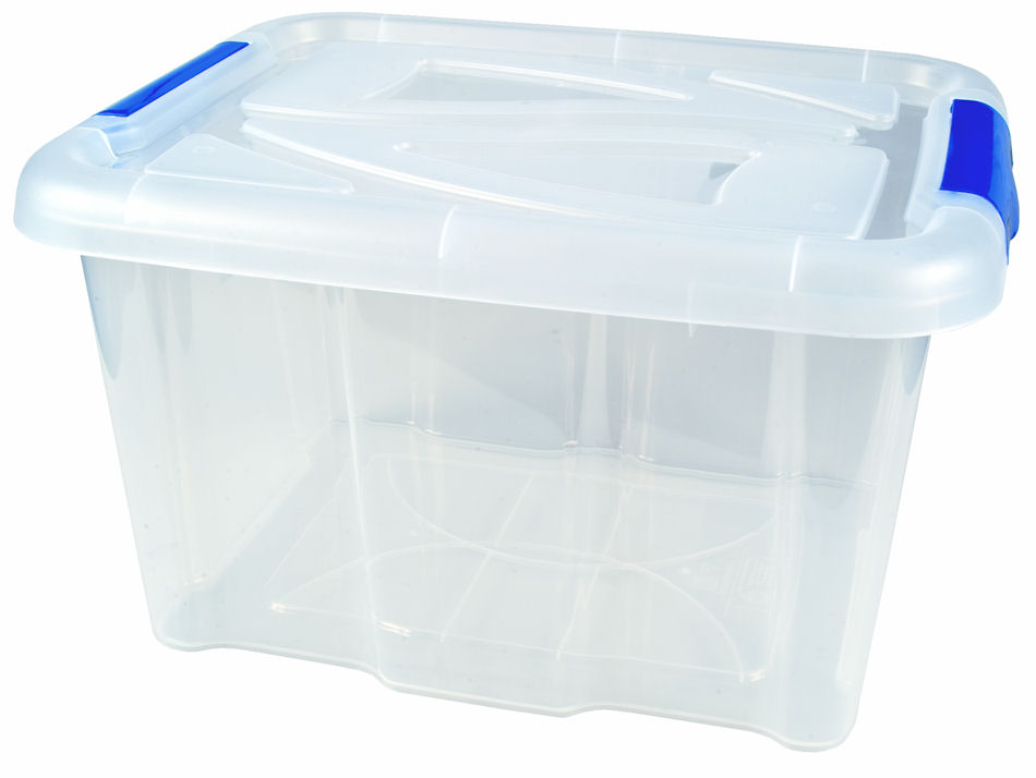 stapelbox 17 liter mit deckel transparent aufbewahrungsbox box allzweckbox ebay. Black Bedroom Furniture Sets. Home Design Ideas
