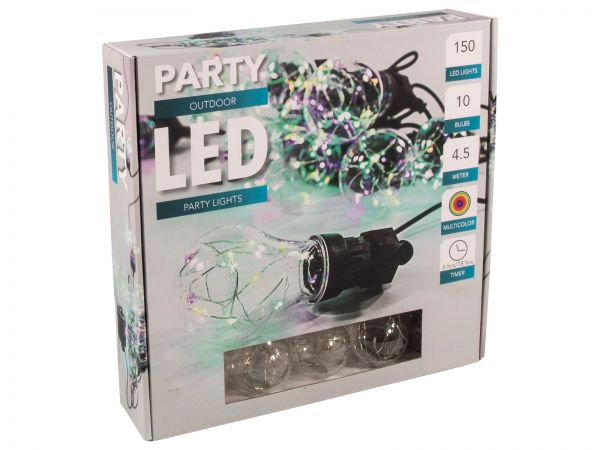 LED Party Lichterkette 150 LED - bunt