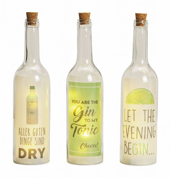 LED Flasche Gin