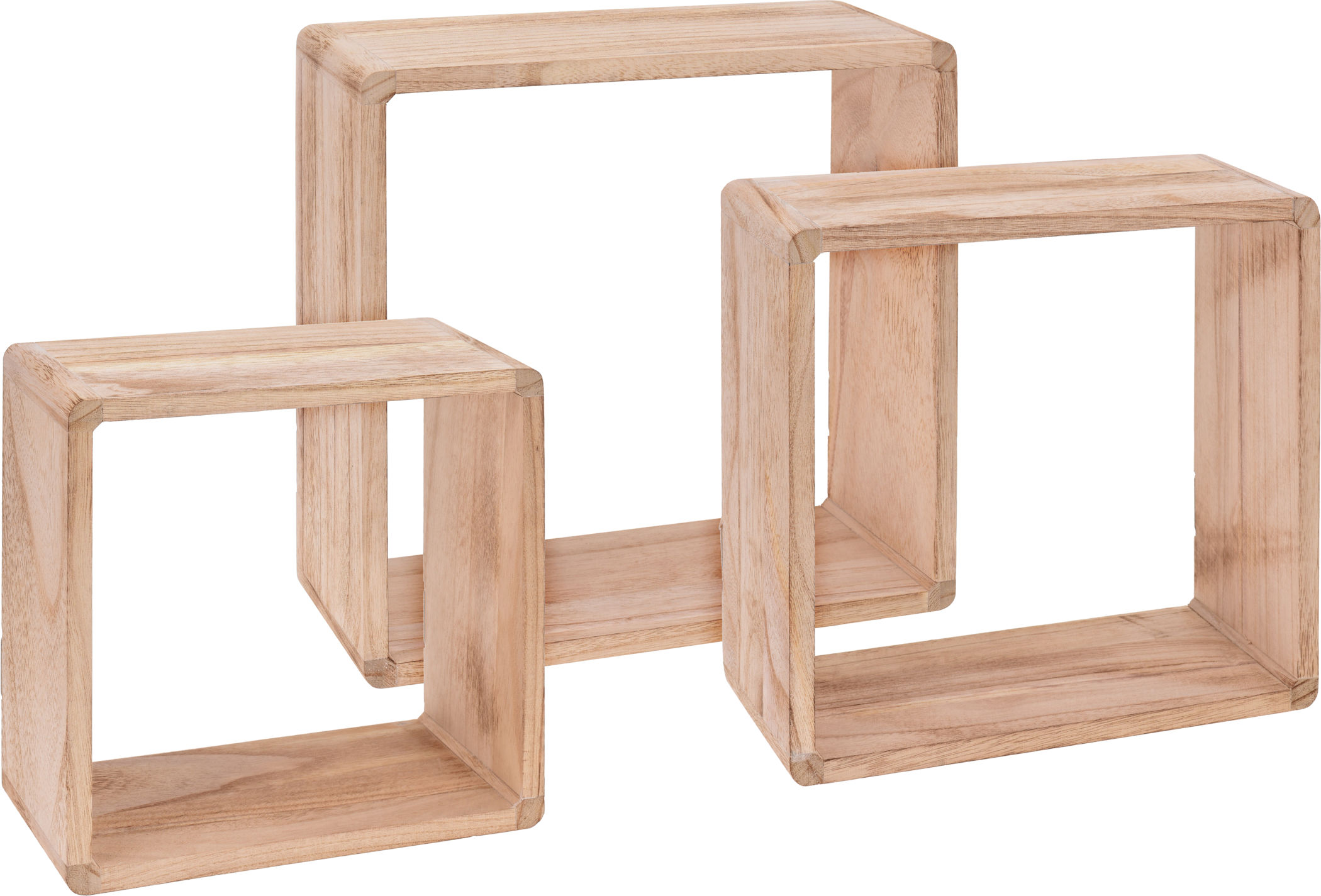 Holz Wandregal Wurfel 3er Set Ca 50 Cm X 35 Cm X 10 Cm Regal