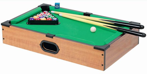 Mini-Billiard Holz 50x30,5x8,5 cm