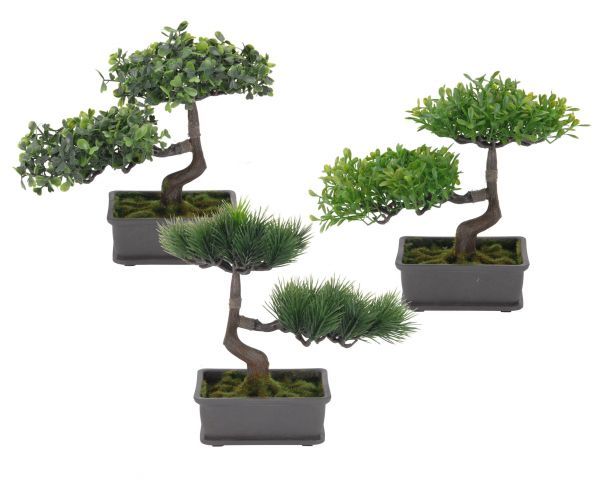Bonsai Kunstpflanze 20 cm - 3er Set