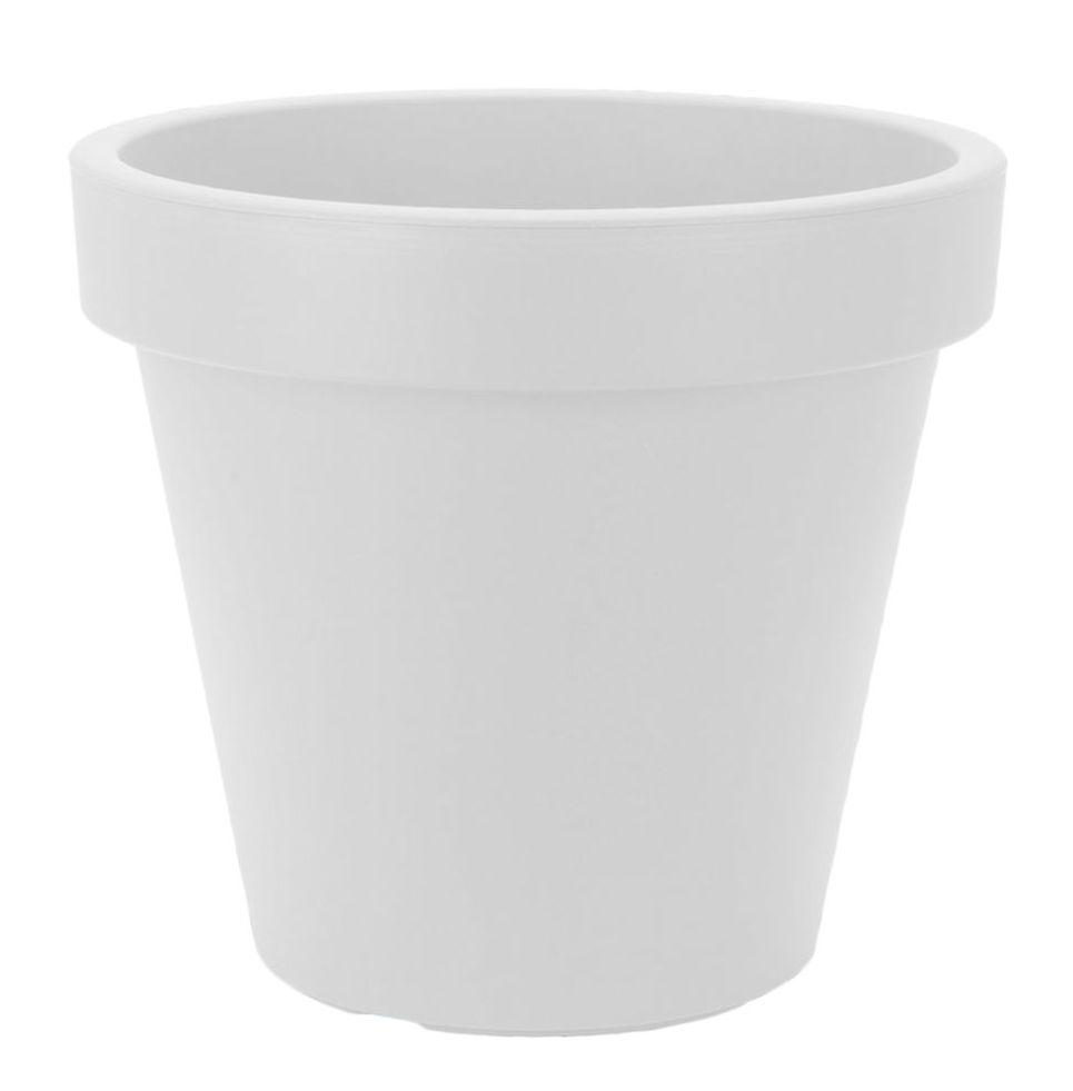 XXL Pflanzkübel weiß - Ø 38 cm - Kunststoff Blumen Kübel groß ...