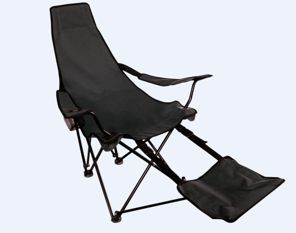 tramp klappsessel mit fu teil campingstuhl fu faltstuhl klappstuhl angelstuhl ebay. Black Bedroom Furniture Sets. Home Design Ideas
