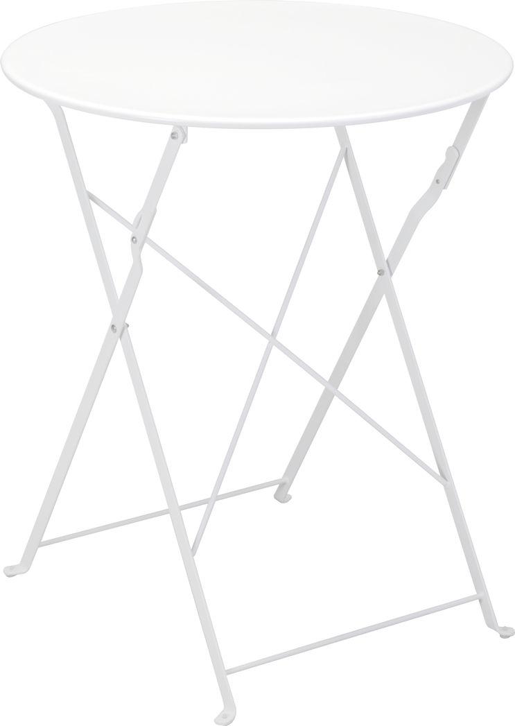 metall bistrotisch wei gartentisch beistelltisch biergartentisch klapptisch ebay. Black Bedroom Furniture Sets. Home Design Ideas