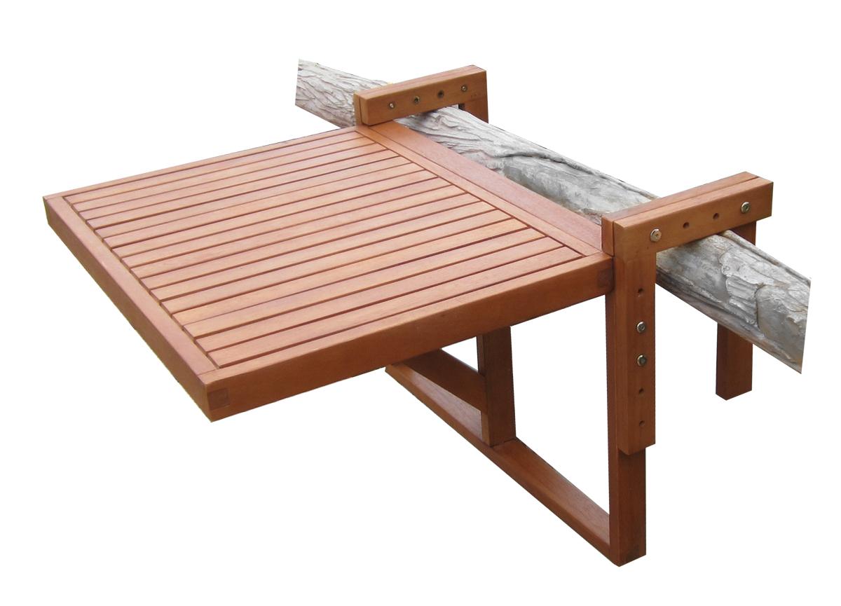 eukalyptus balkontisch 60x45 cm holz klapptisch balkon h ngetisch klappbar ebay. Black Bedroom Furniture Sets. Home Design Ideas
