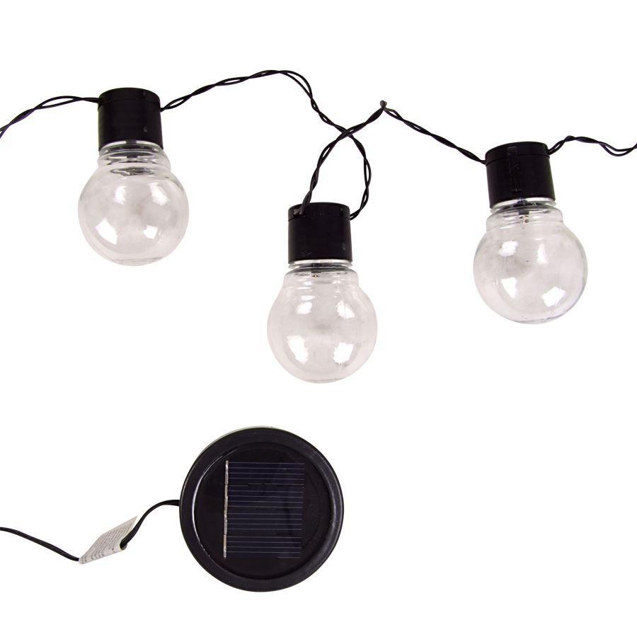 lichterkette gl hbirne solar 10 led warmwei au en. Black Bedroom Furniture Sets. Home Design Ideas