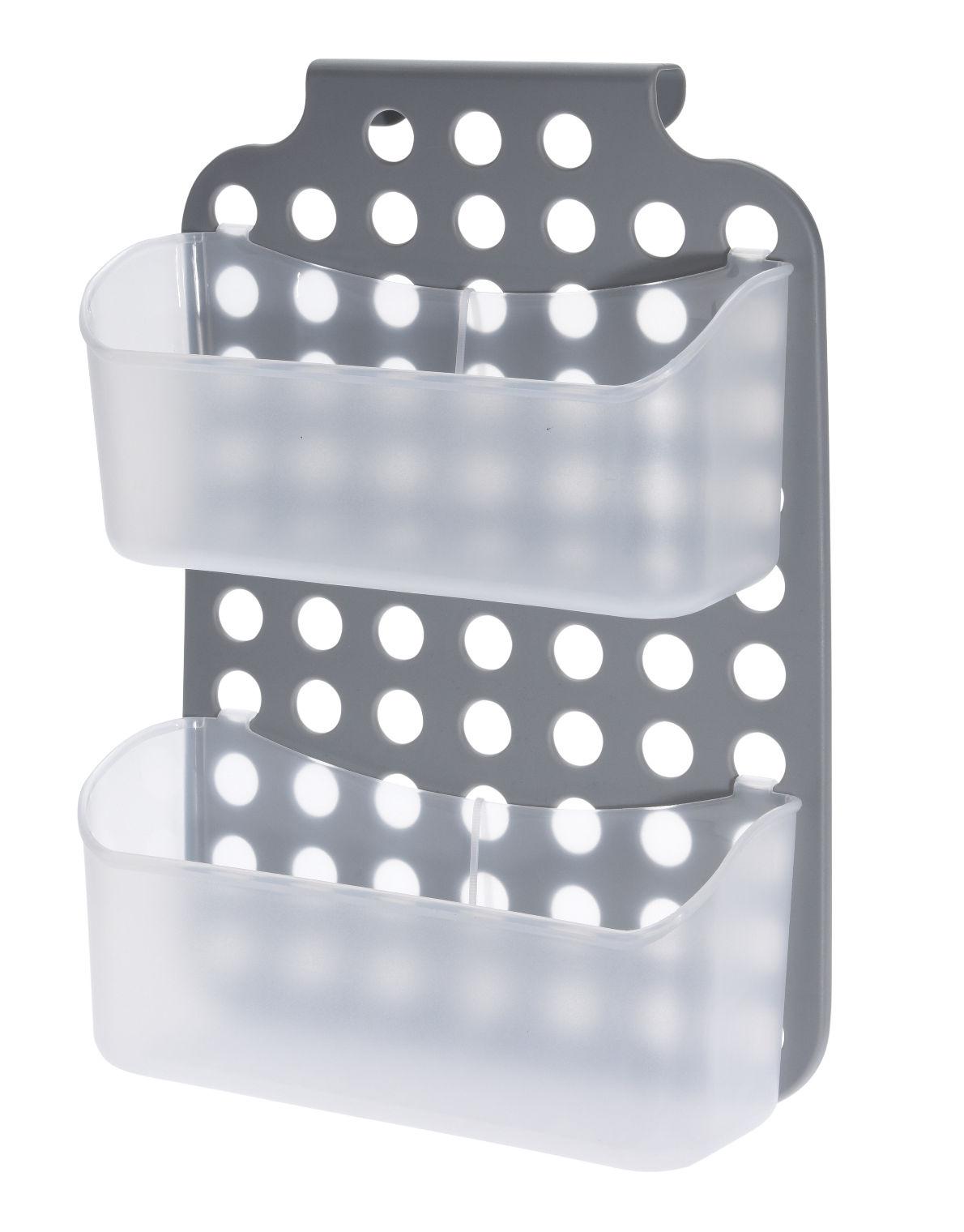 Details zu Kunststoff Duschregal - 9x9 cm - Bad Hänge Regal Dusch Korb  Ablage Badezimmer