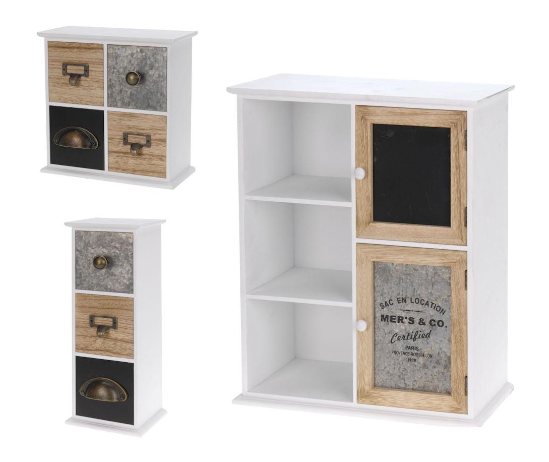 holz retro kommode klein 3 4 oder 5 f cher holzk stchen mini schr nkchen ebay. Black Bedroom Furniture Sets. Home Design Ideas