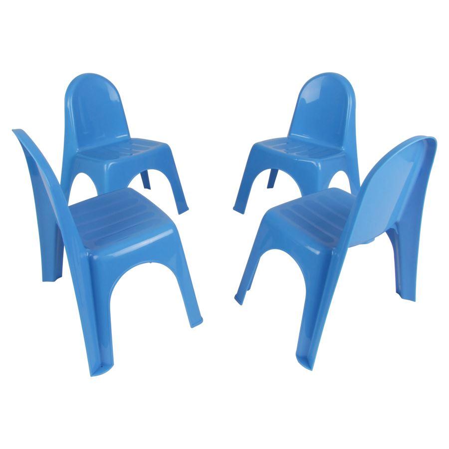 kinderstühle 4 stück - 3 farben - kinder stuhl set kindermöbel