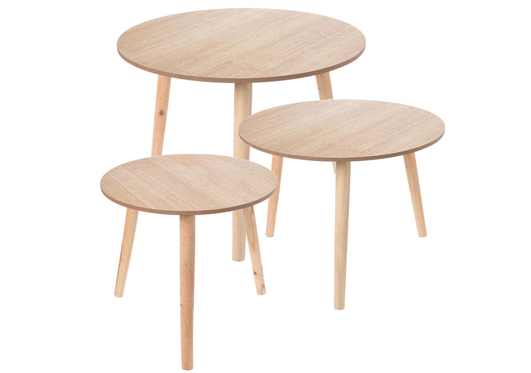 Design beistelltisch holz tisch rund 60 cm couchtisch for Design tisch ebay