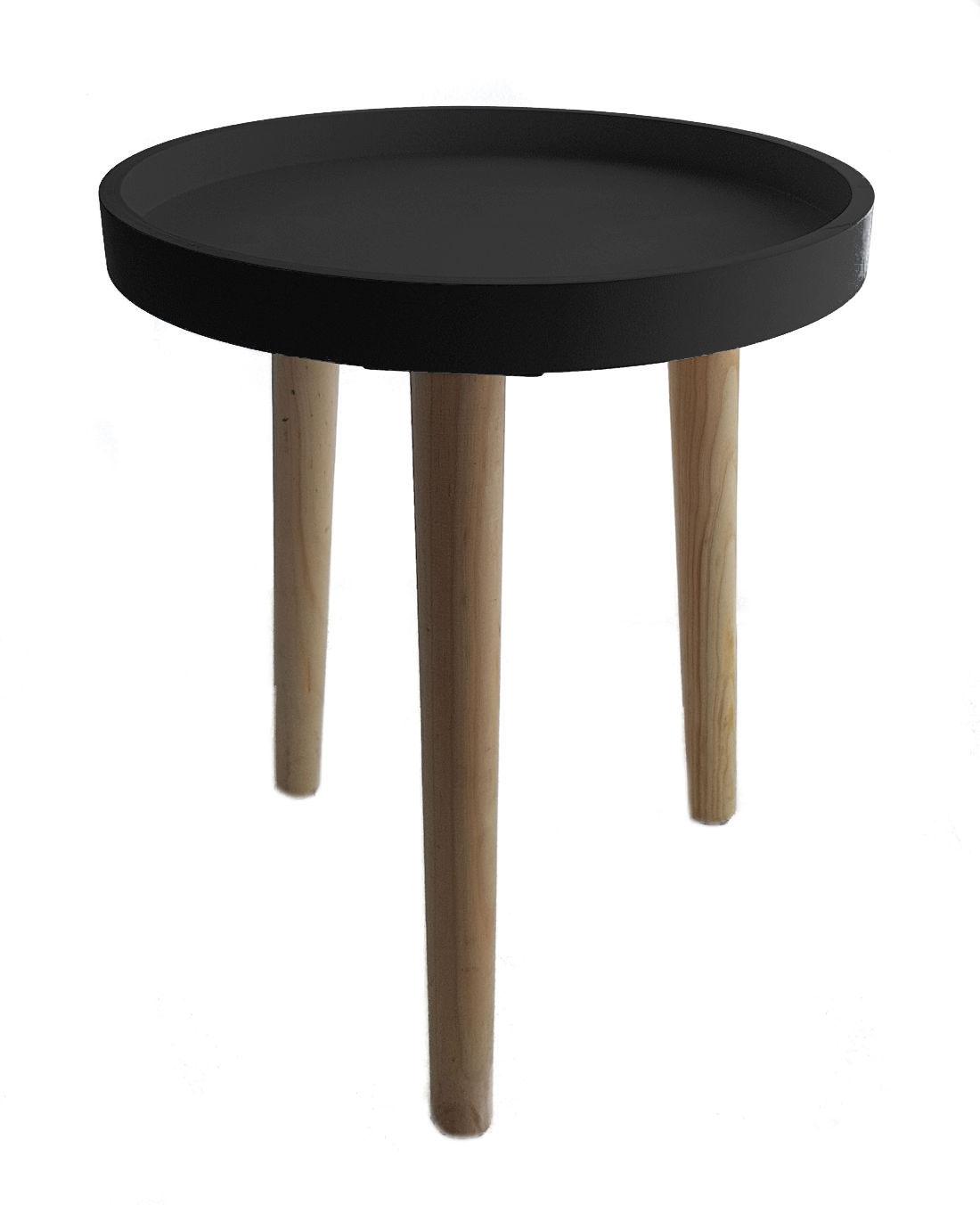 Dekorativer beistelltisch 36x30 cm 3 farben sofatisch for Kleiner glastisch rund
