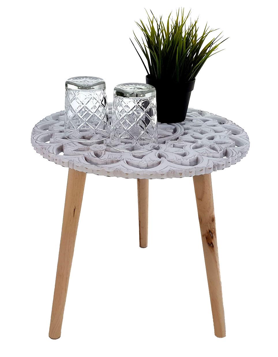 design beistelltisch shabby chic holz deko tisch klein vintage couchtisch wei 4260461477407. Black Bedroom Furniture Sets. Home Design Ideas