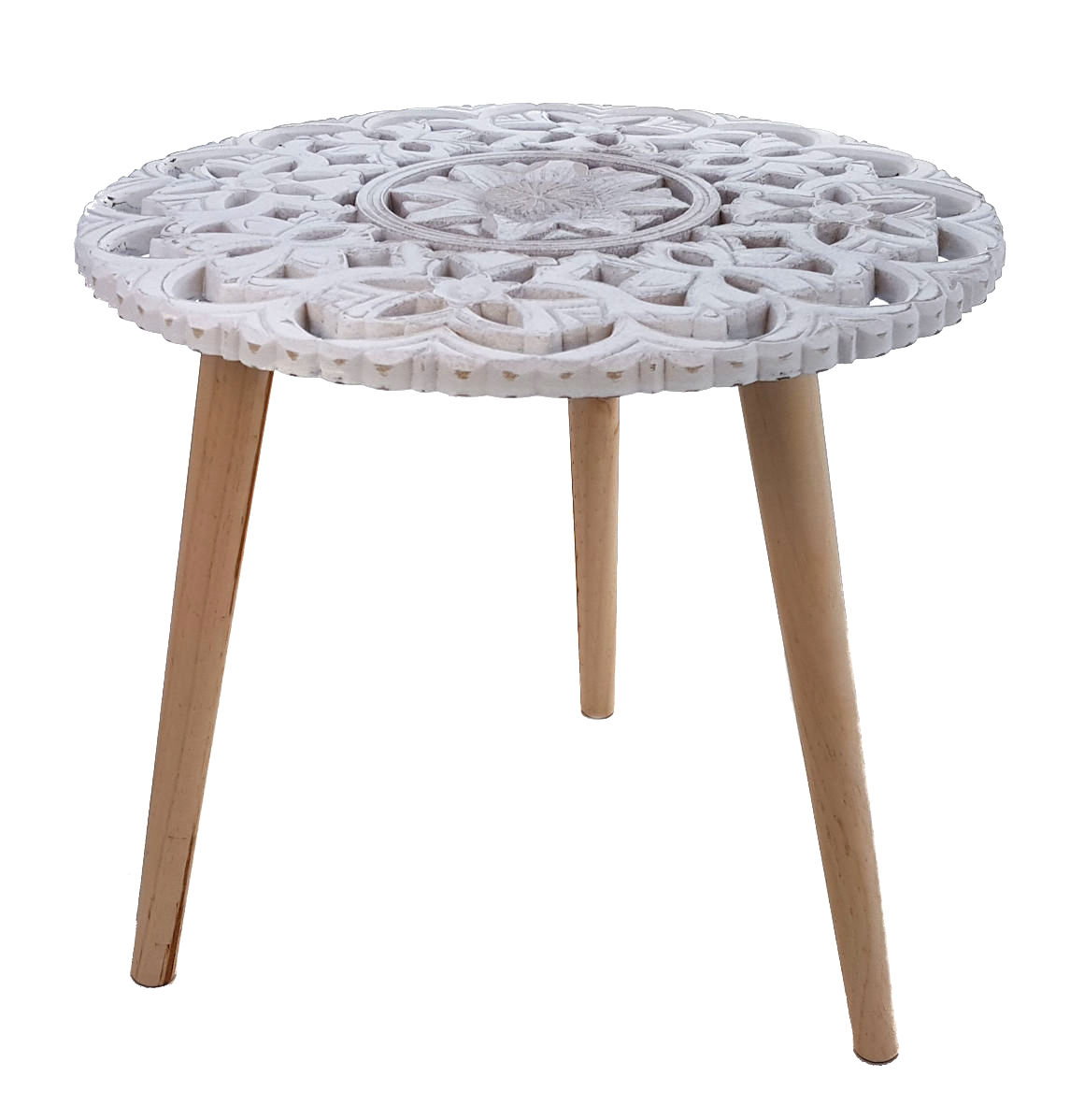 design beistelltisch shabby chic holz deko tisch klein. Black Bedroom Furniture Sets. Home Design Ideas