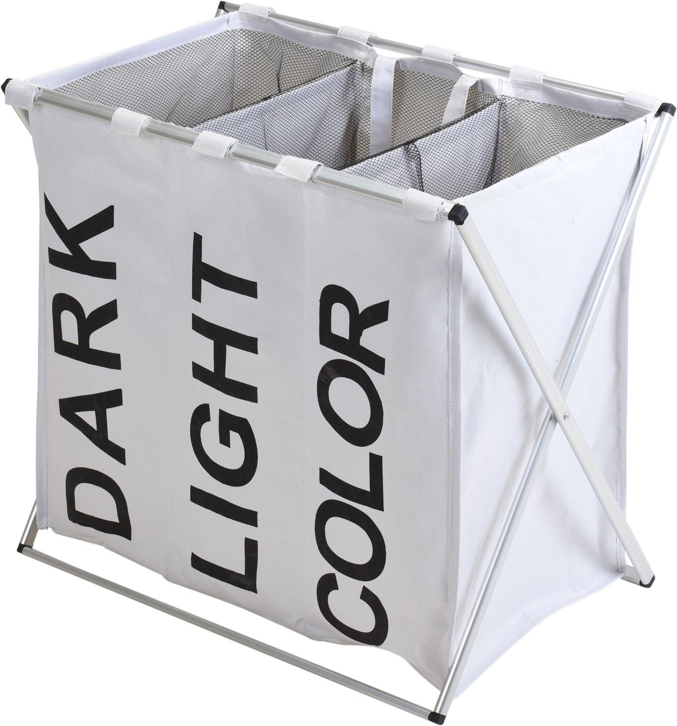 w schesammler 3 f cher wei w schesortierer w schekorb w schesack faltbar ebay. Black Bedroom Furniture Sets. Home Design Ideas
