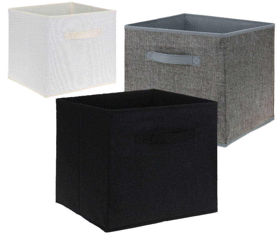 regalbox 30x30x30 3er set regalboxen aufbewahrung box aufbewahrungsbox regal ebay. Black Bedroom Furniture Sets. Home Design Ideas