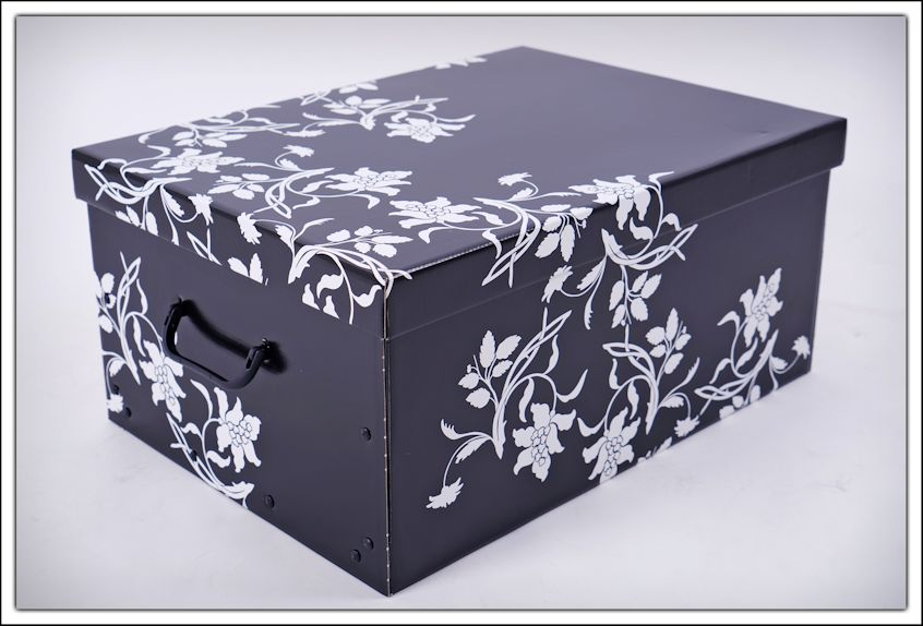 aufbewahrungsbox blumen 3er set barock box stapelbox. Black Bedroom Furniture Sets. Home Design Ideas