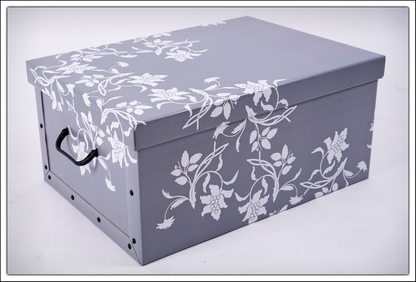 aufbewahrungsbox blumen 3er set barock box stapelbox dekobox geschenkbox ebay. Black Bedroom Furniture Sets. Home Design Ideas