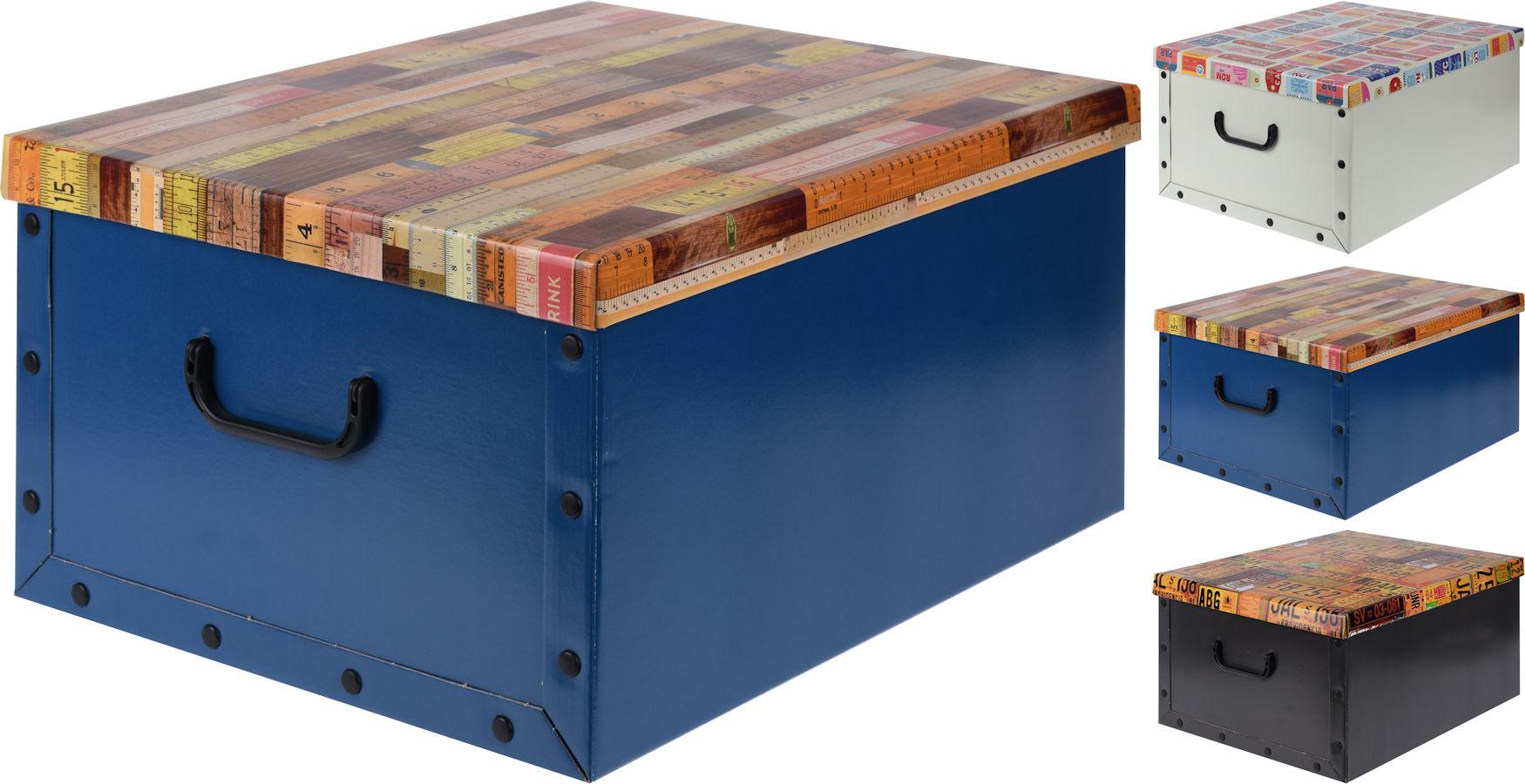 aufbewahrungsbox 3er set 6 motive auswahl box stapelbox dekobox geschenkbox ebay. Black Bedroom Furniture Sets. Home Design Ideas