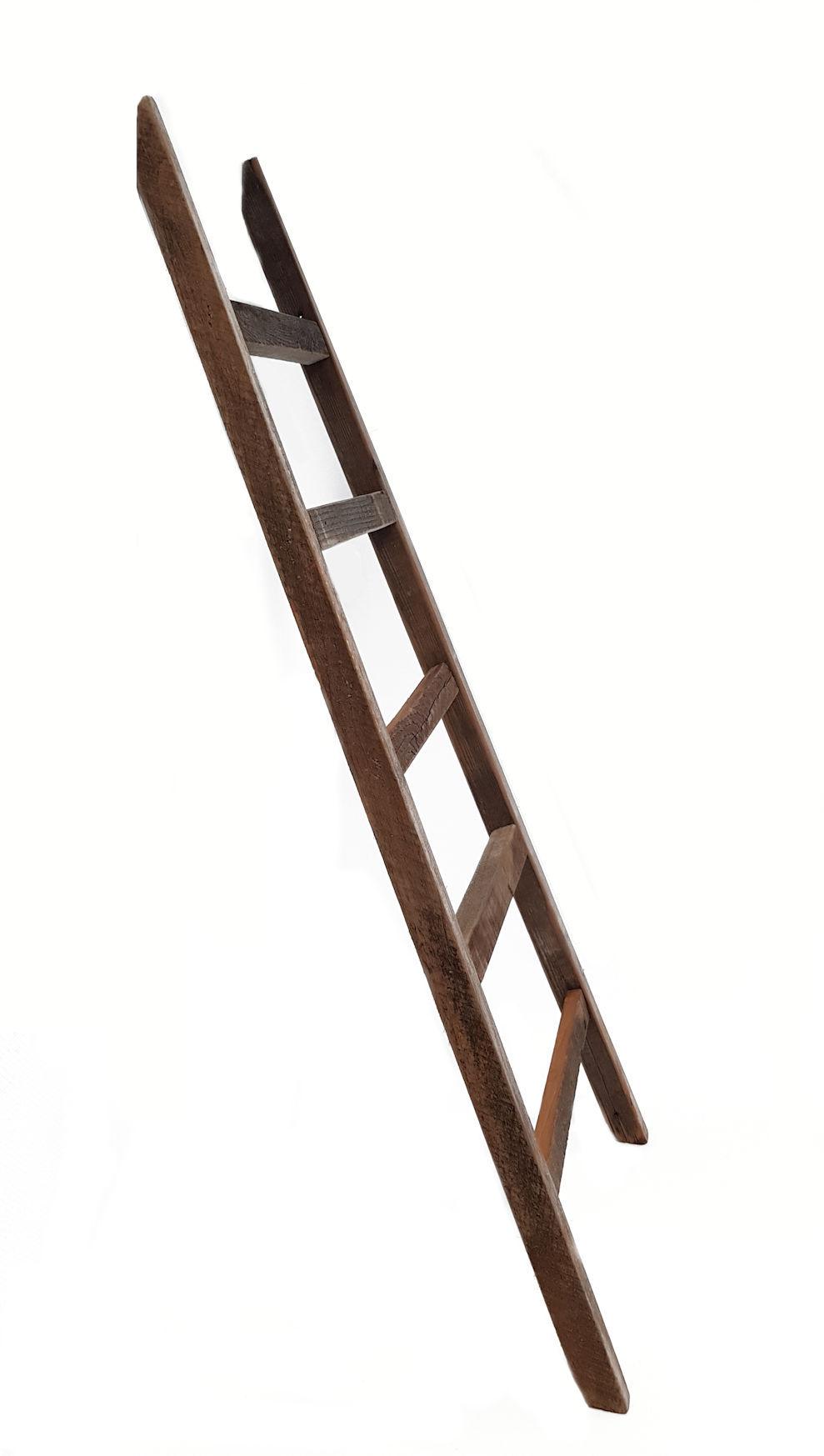 deko leiter 100cm vintage handtuchhalter holz leiter wand dekoration shabby ebay. Black Bedroom Furniture Sets. Home Design Ideas