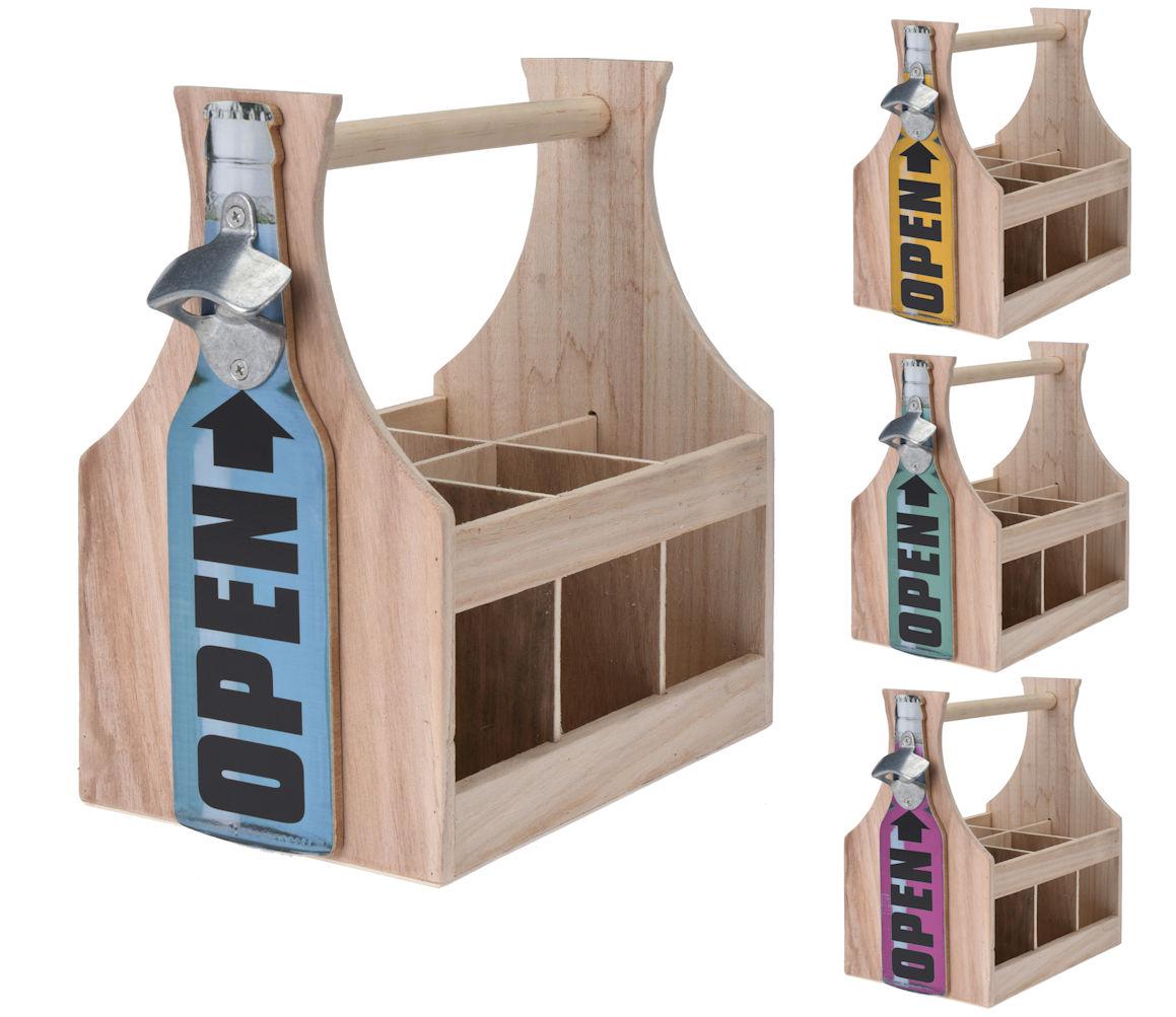 holz flaschentr ger mit flaschen ffner flaschenhalter. Black Bedroom Furniture Sets. Home Design Ideas