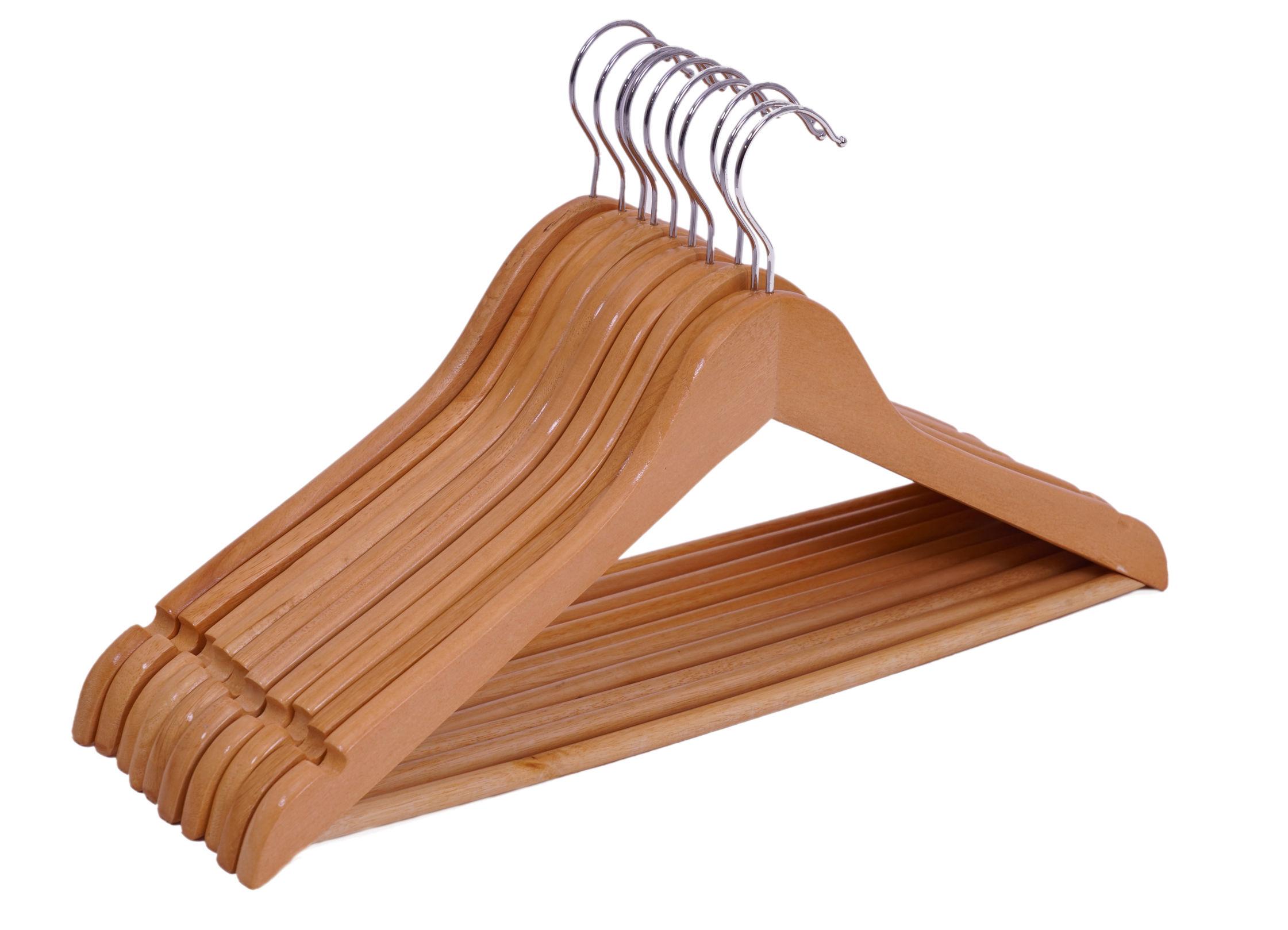 holz kleiderb gel mit hosenstange 10 20 50 st ck holzb gel garderobenb gel ebay. Black Bedroom Furniture Sets. Home Design Ideas