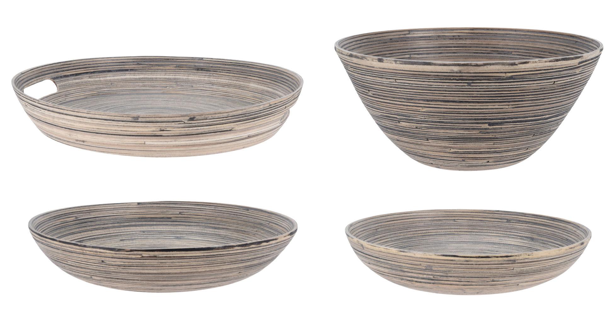 Spetebo Deko Bambus Schale 30x7 Cm Holz Tischdeko Schussel Rund