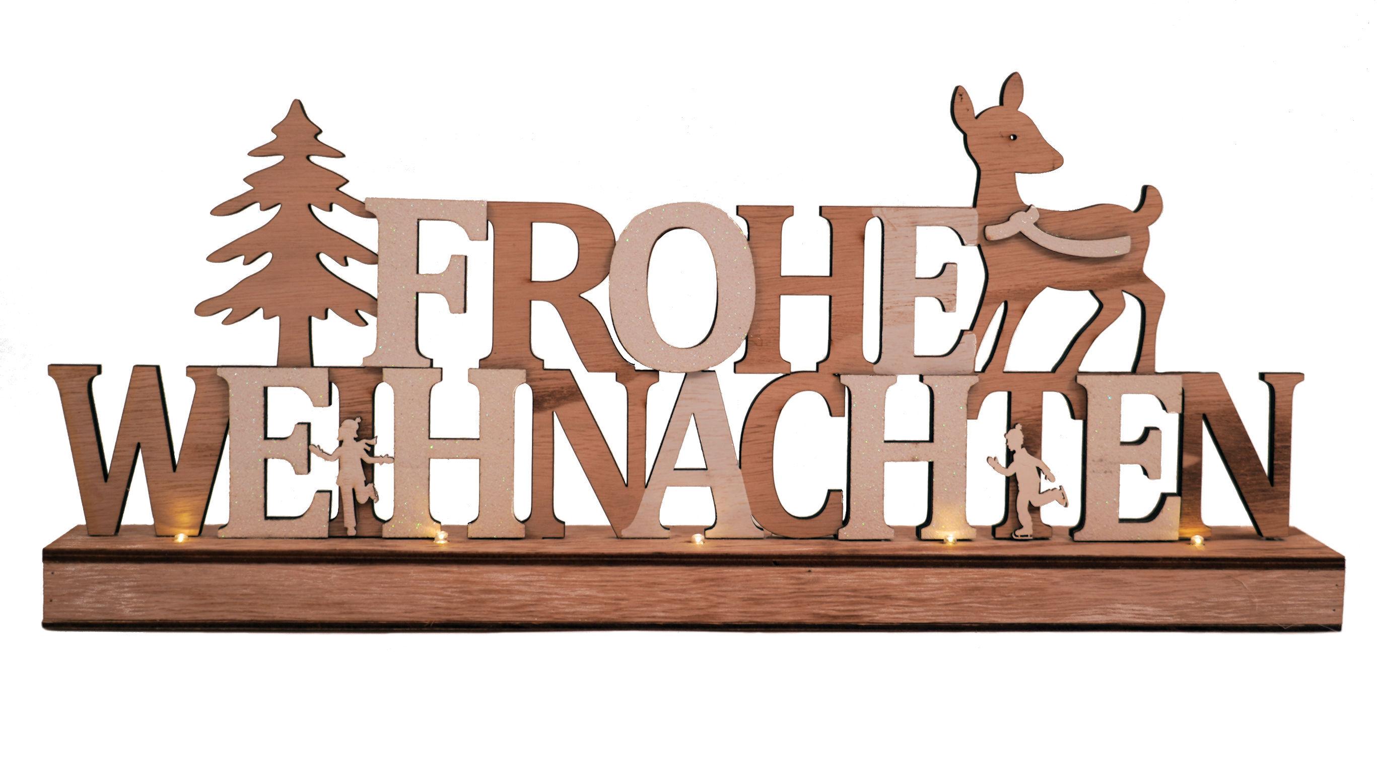 LED FensterSchild Frohe Weihnachten Türschild Weihnachtsdekoration Dekobild