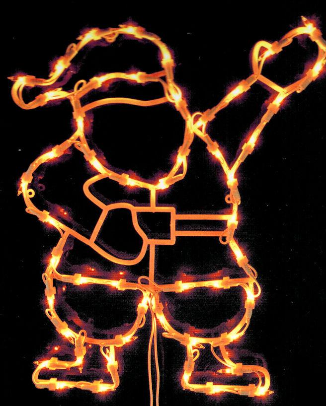 Motiv Engel mit Saugnapf Fensterbild beleuchtet 42cm mit 50 LED